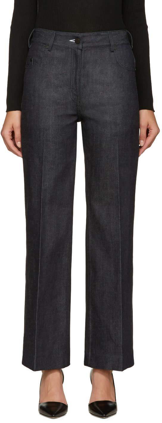 Calvin Klein Collection Indigo Fray Jeans