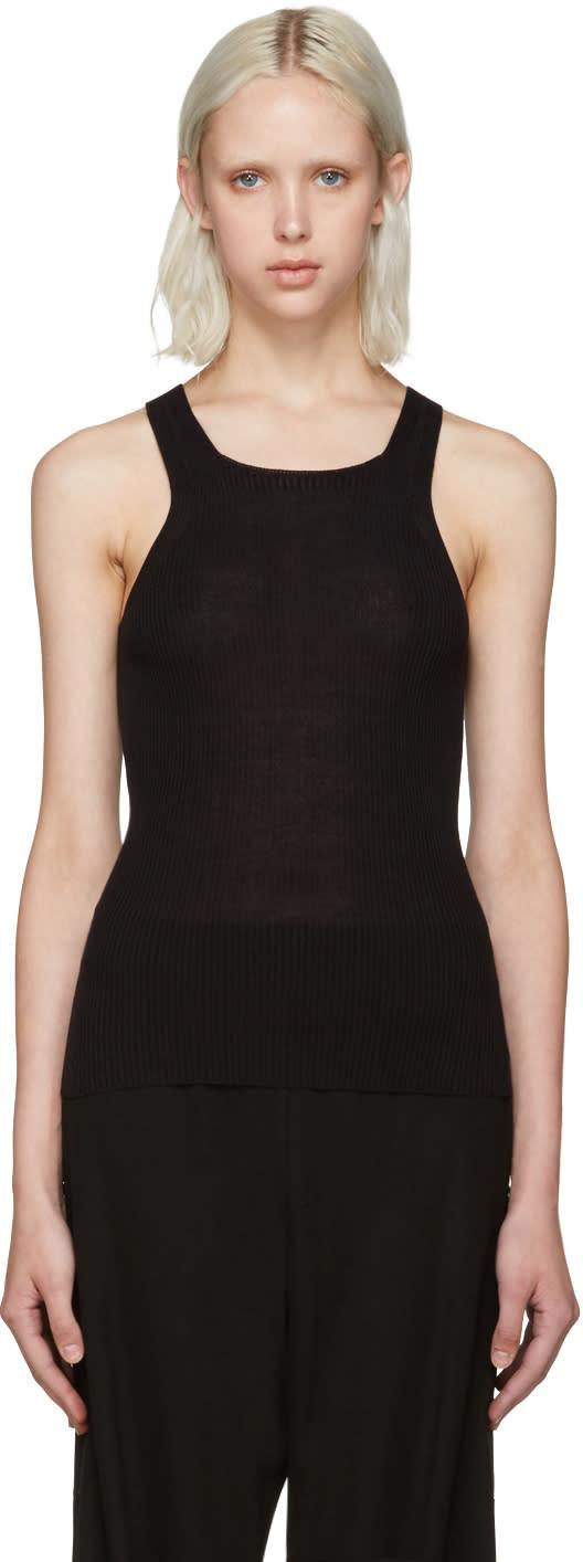 Calvin Klein Collection Black Ribbed Tank Top