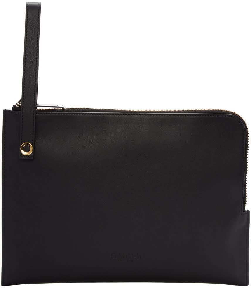 Calvin Klein Collection Black Large Portfolio Pouch