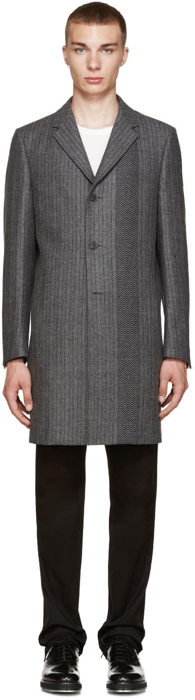 Calvin Klein Collection Grey Wool Munich Coat