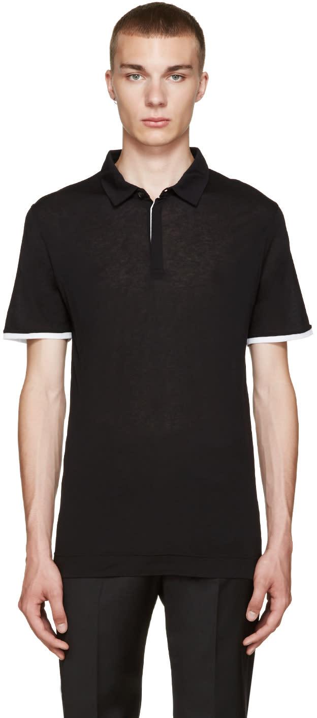 Calvin Klein Collection Black Misel Polo