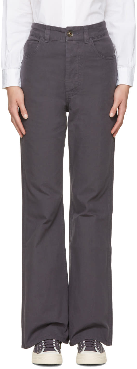 Visvim Navy High-rise Trousers