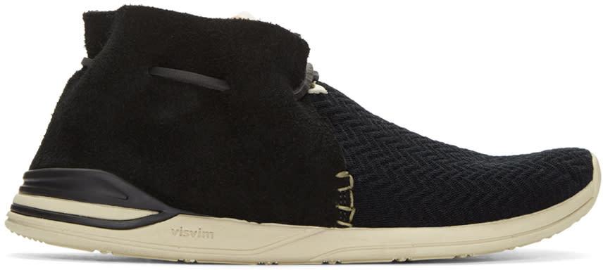 Visvim Black Huron Mesh Moc-folk Sneakers