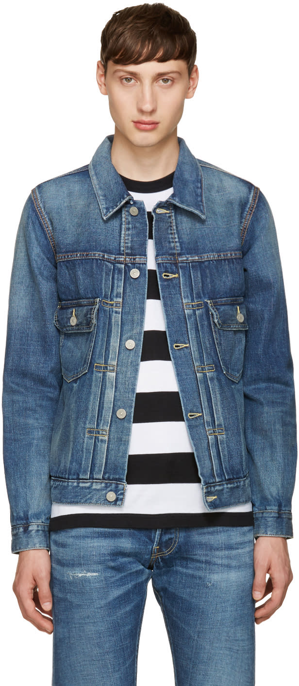 Visvim Indigo Denim Damaged Jacket
