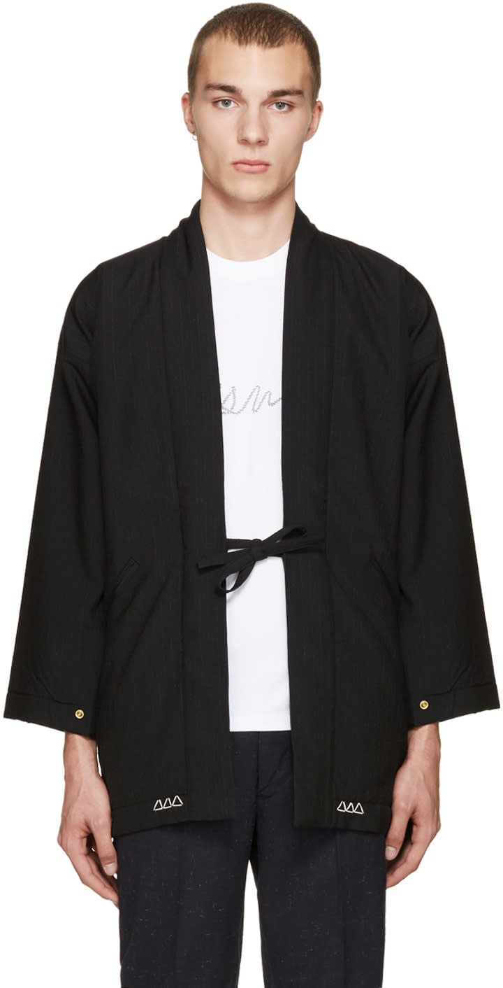 Visvim Black Wool Dotera Coat