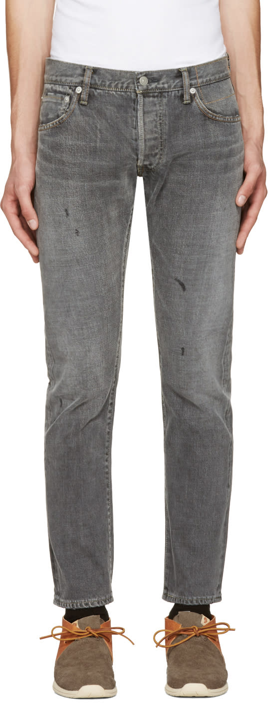Visvim Black Social Sculpture 10 Damaged Jeans