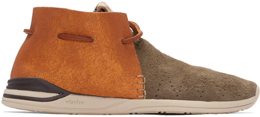 Visvim Brown Folk Huron Moccasins