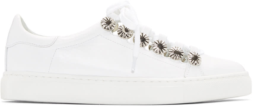 Toga Pulla White Open Lace Sneakers