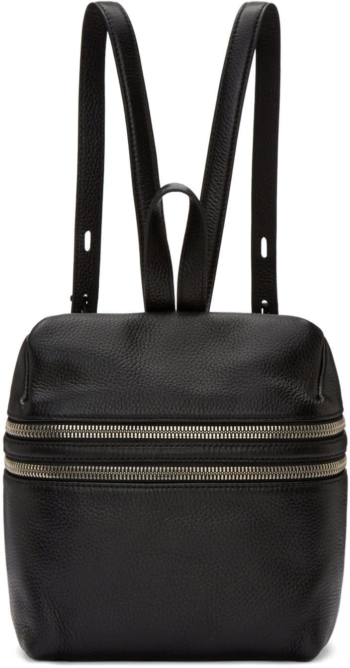 Kara Black Small Double Zip Backpack