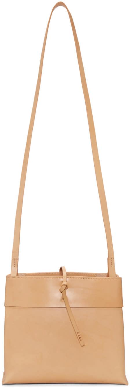 Image of Kara Beige Tie Bag