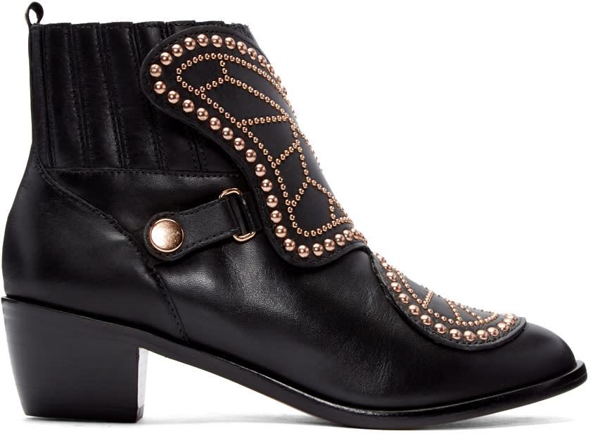 Sophia Webster Black Karina Butterfly Boots