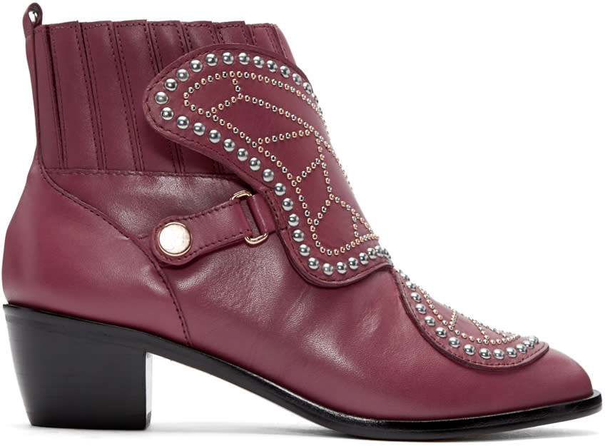 Sophia Webster Red Karina Butterfly Boots