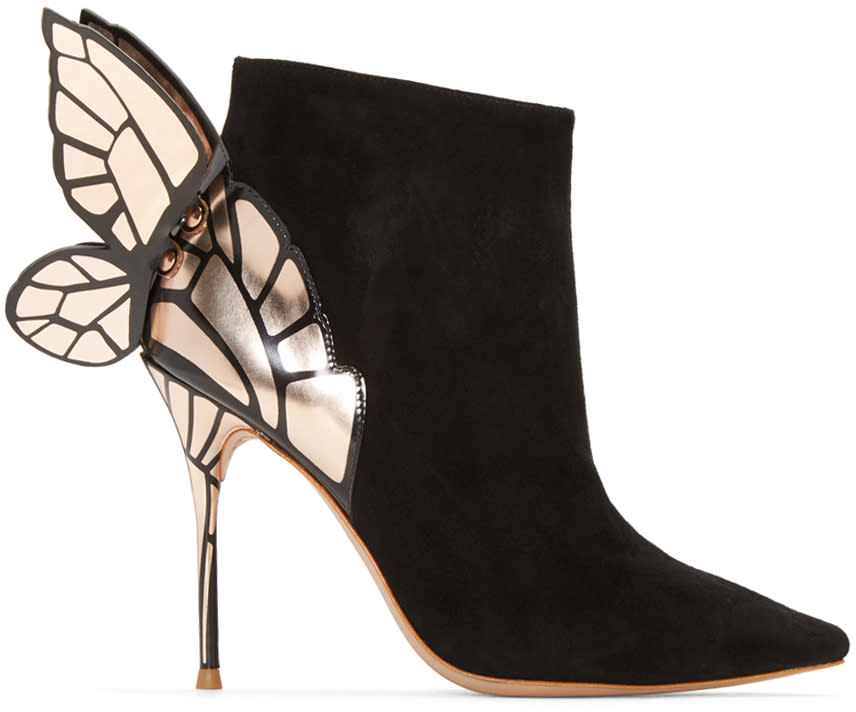 Sophia Webster Black Chiara Ankle Boots