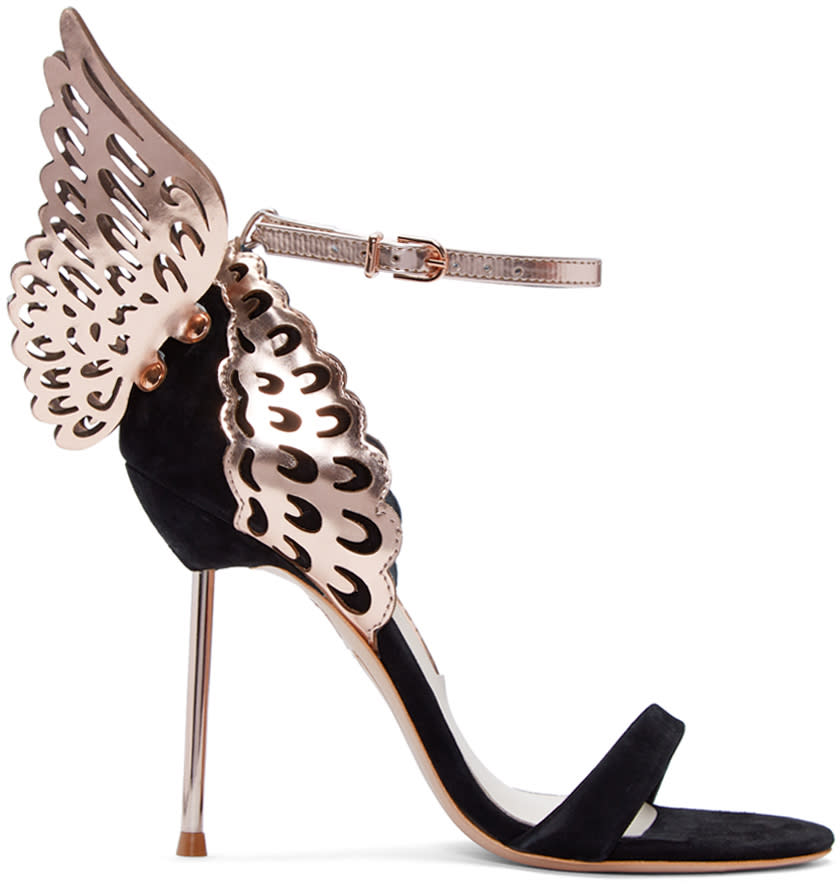 Sophia Webster Black Suede Evangeline Sandals