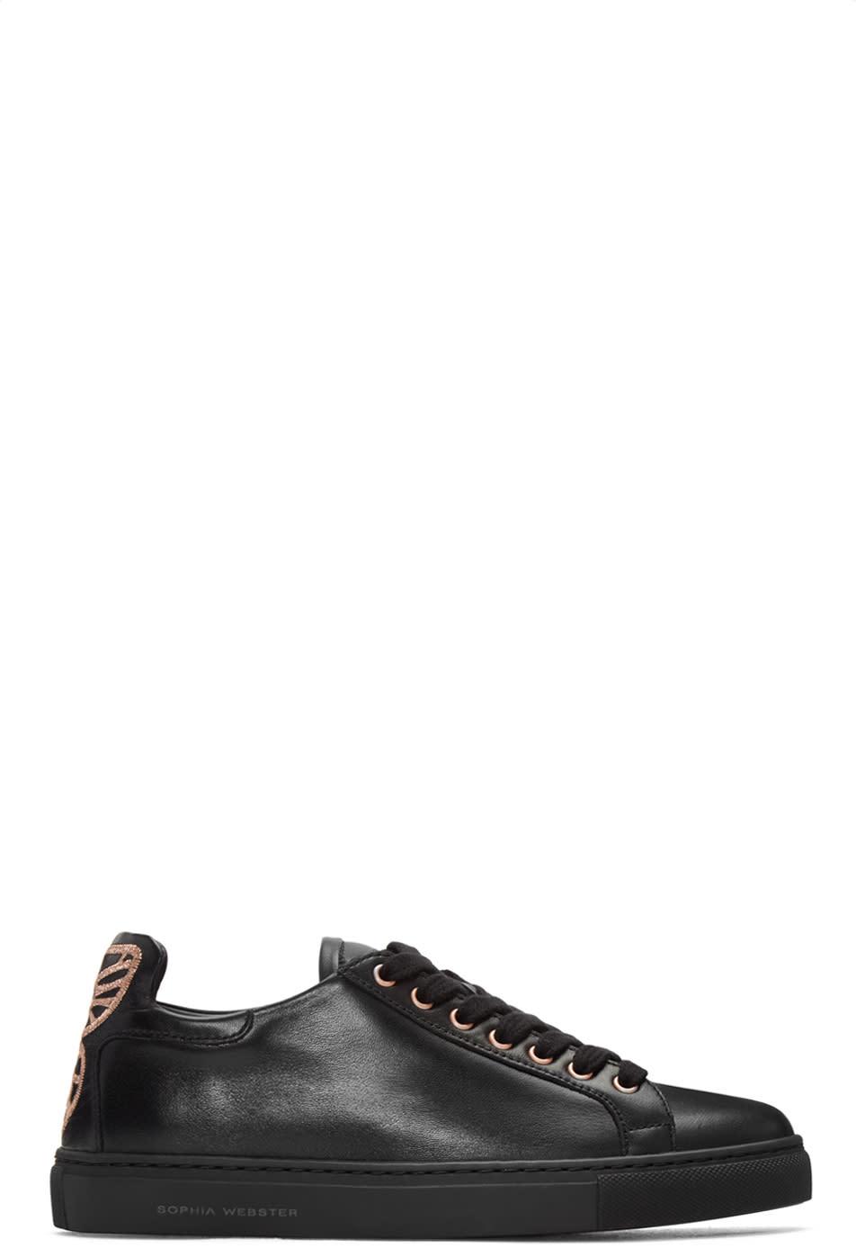 Sophia Webster Black Leather Bibi Sneakers