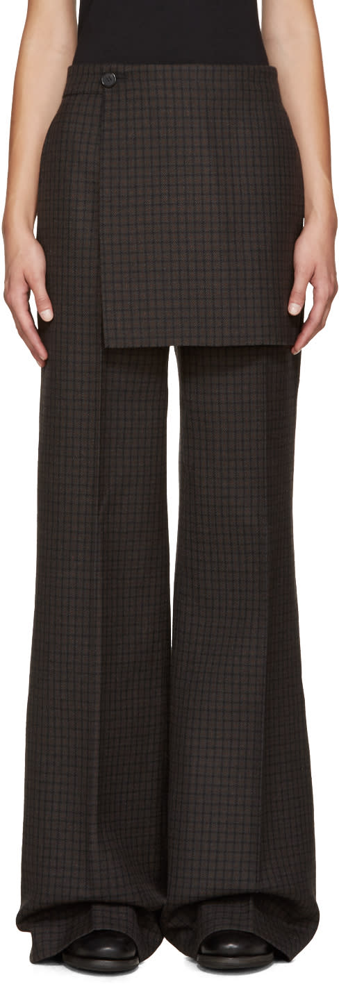 Yang Li Multicolor Wide-leg Apron Trousers