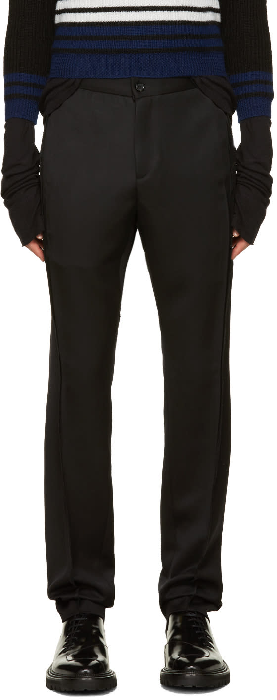 Yang Li Black Twisted Seam Trousers
