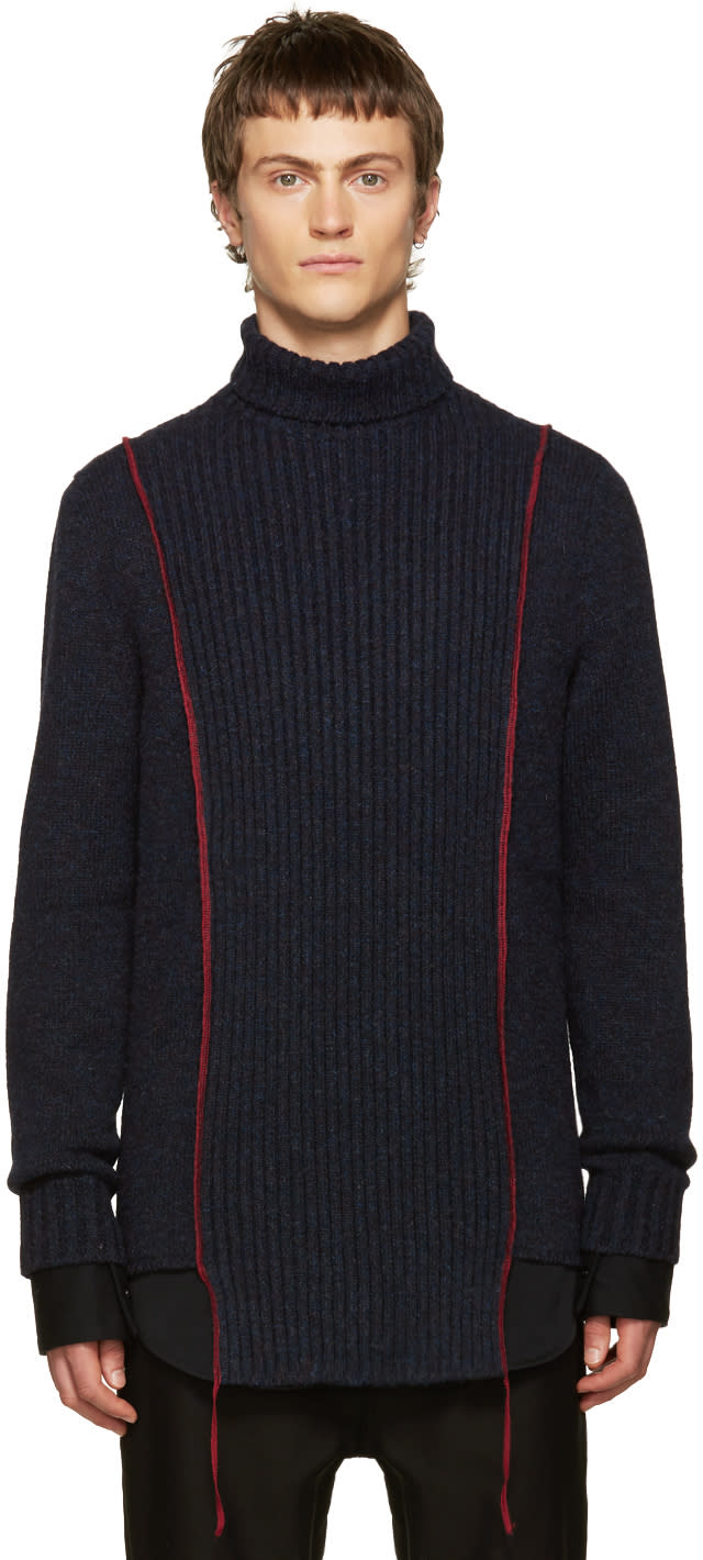 Yang Li Navy Wool Turtleneck
