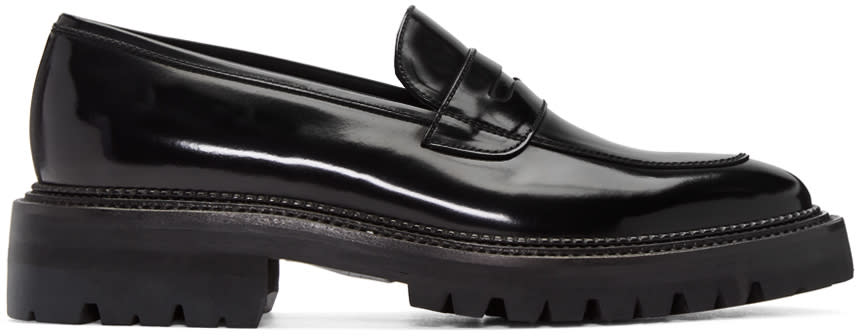 Yang Li Black Classic Penny Loafers