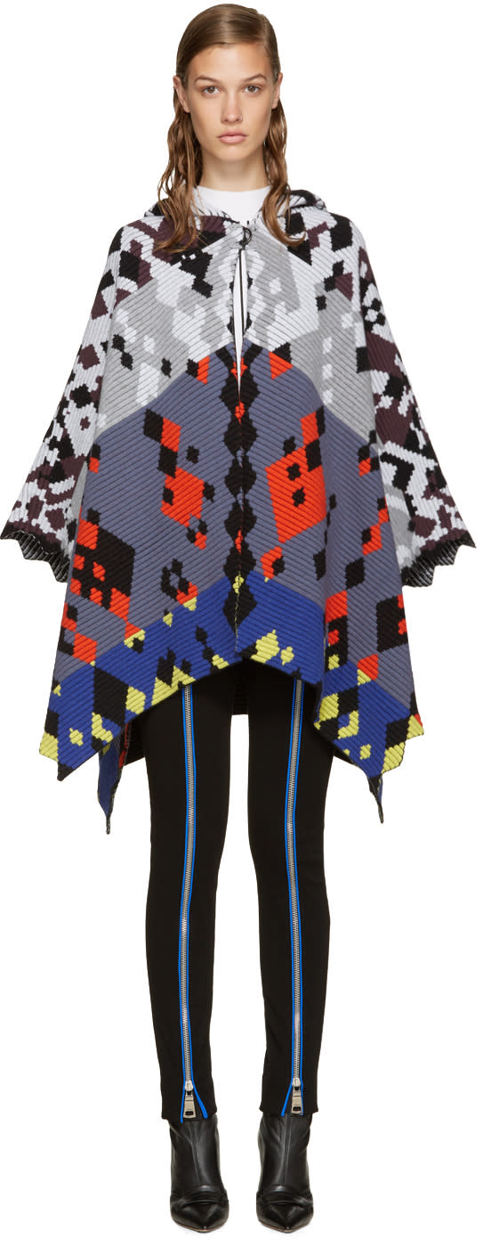 Peter Pilotto Multicolor Jacquard Cape