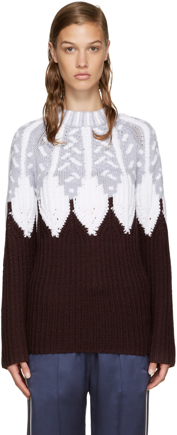 Peter Pilotto Burgundy Icelandic Sweater