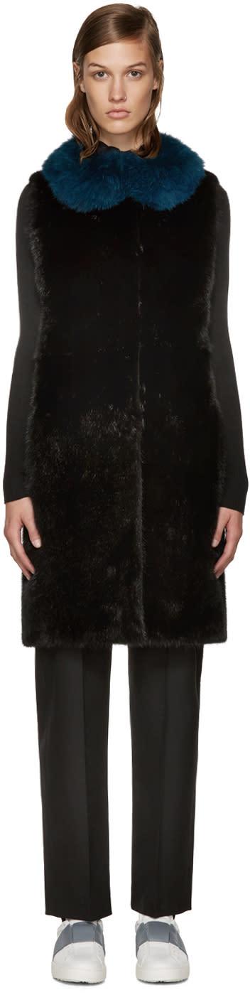 Yves Salomon - Meteo Black Fur Vest