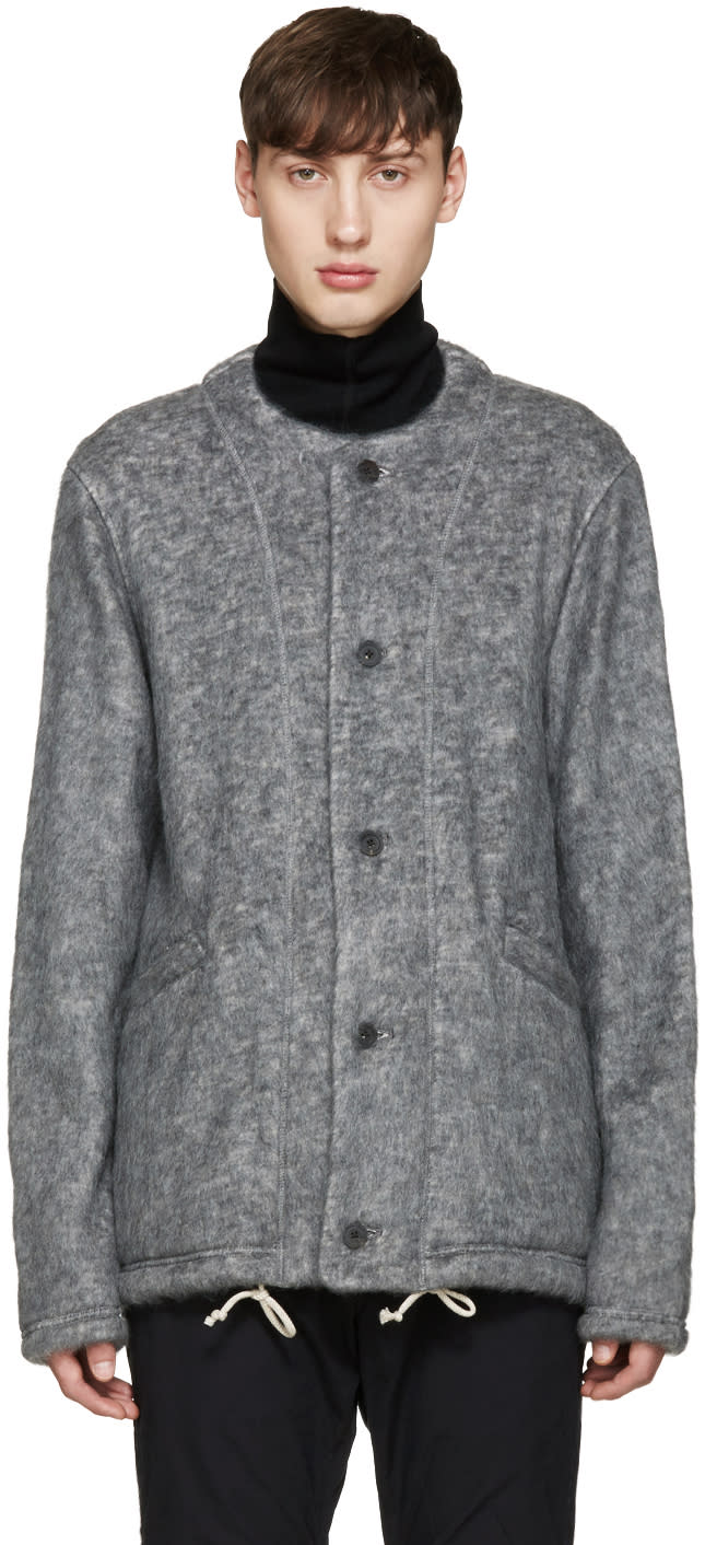 08sircus Grey Collarless Jacket