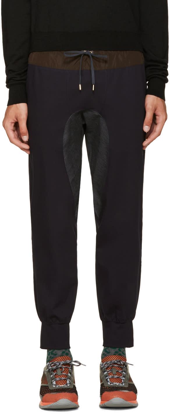 Kolor Navy Cotton Lounge Pants