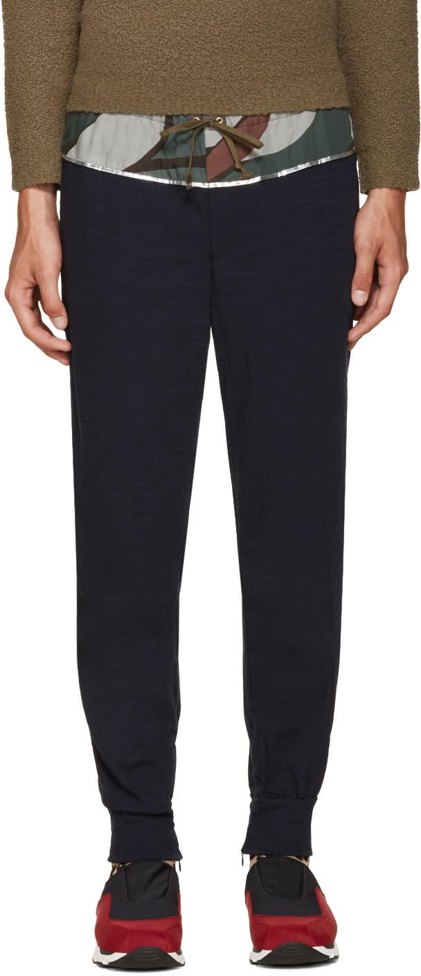 Kolor Navy Wool Lounge Pants