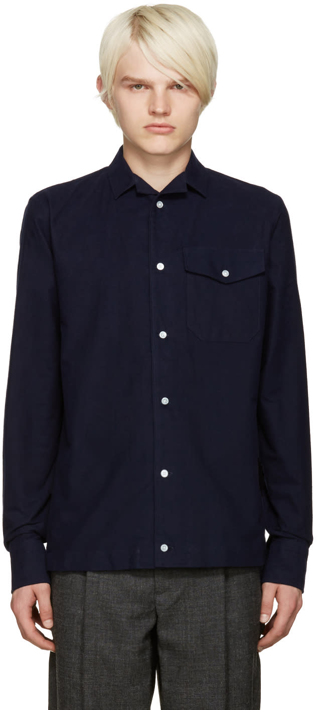 Kolor Navy Pocket Shirt
