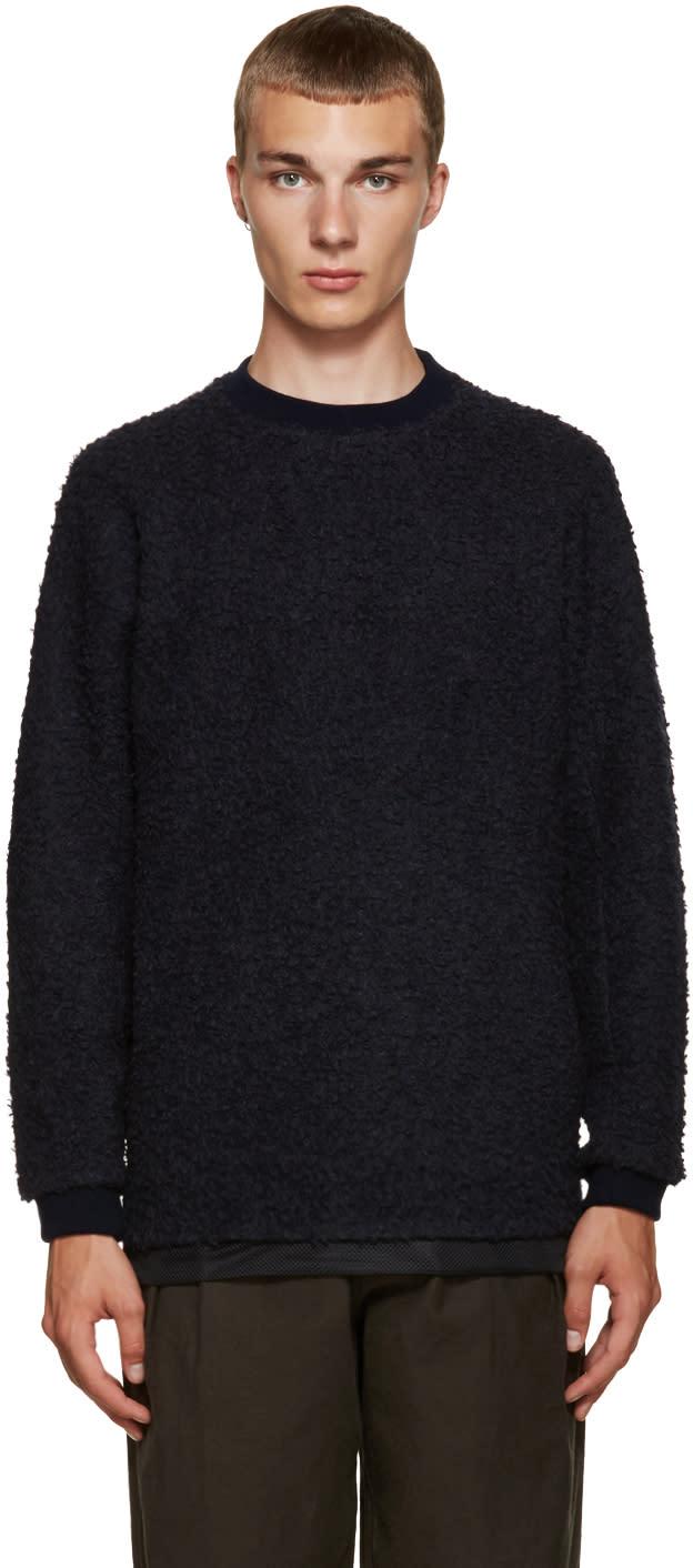 Kolor Navy Textured Pullover