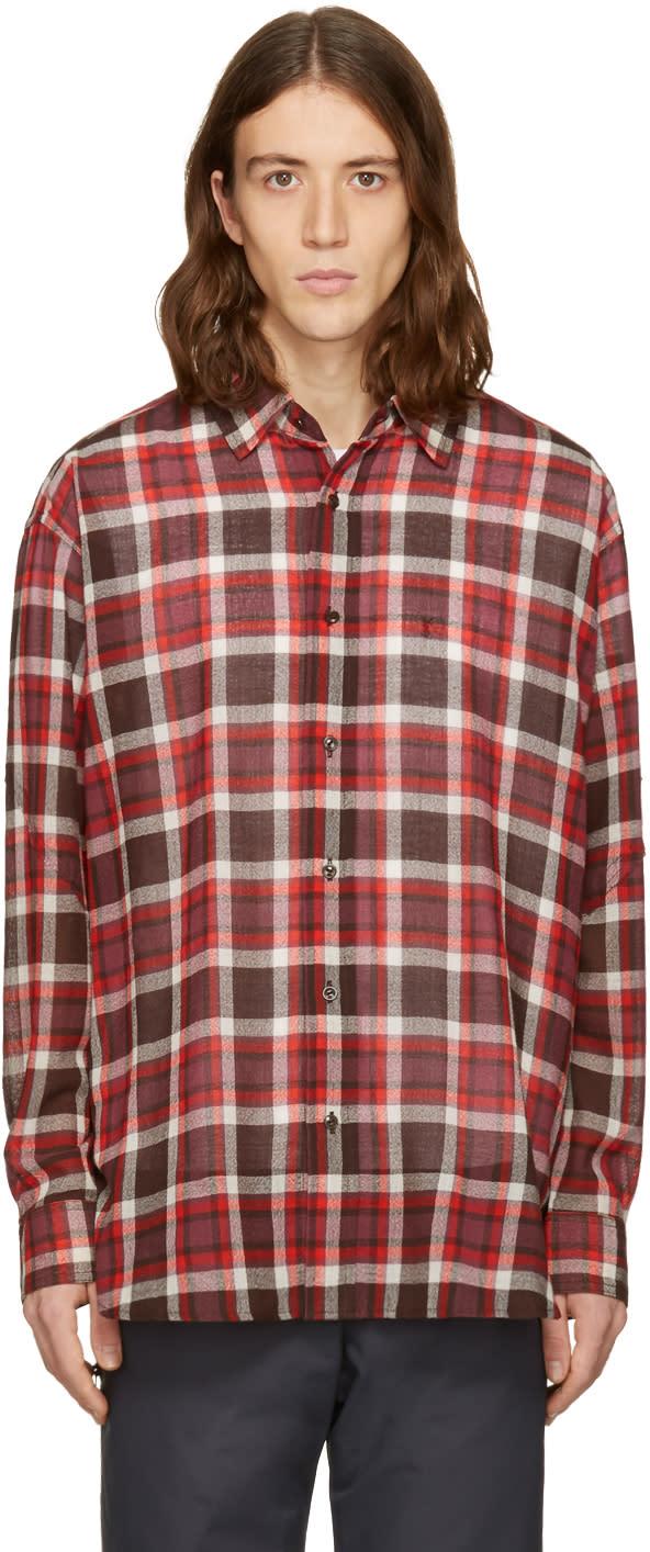 Facetasm Brown Plaid Shirt