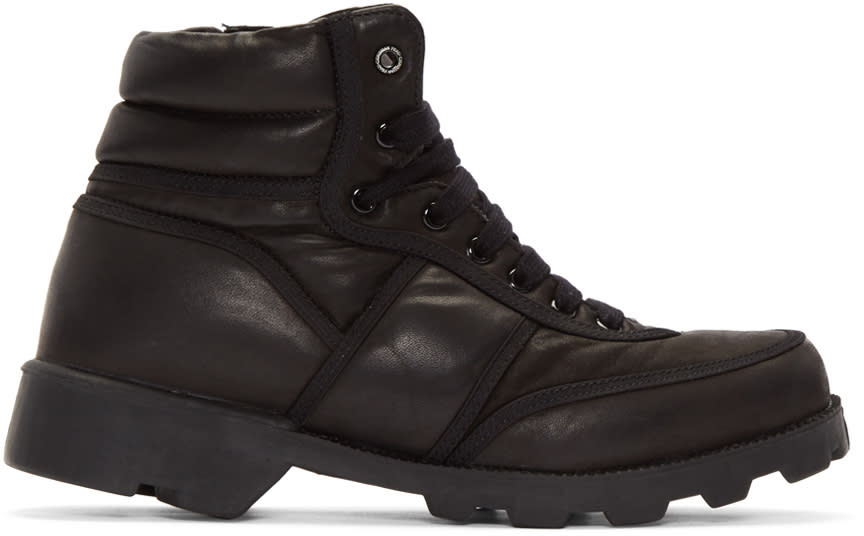 Image of Christian Peau Black Cp Mt Zip High-top Sneakers