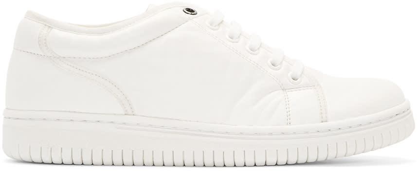 Christian Peau White Leather Cp Low-cut Sneakers