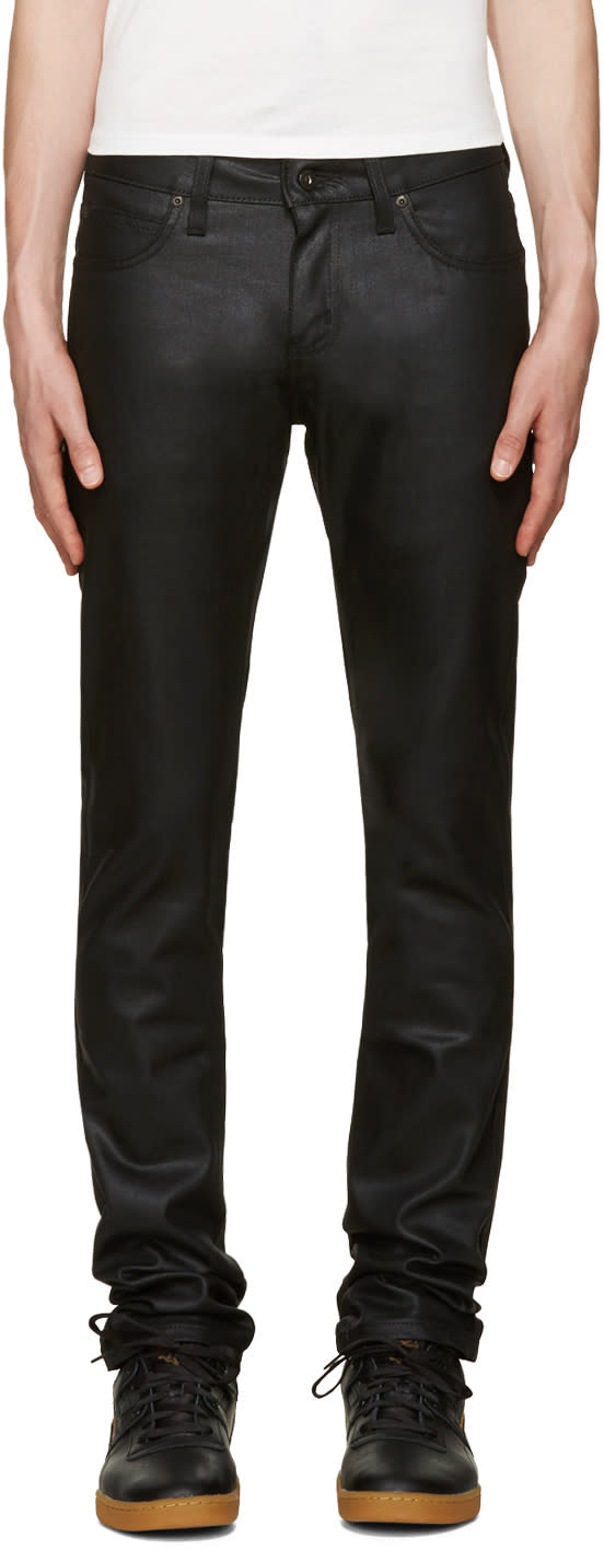 Naked and Famous Denim Black Superskinny Guy Jeans