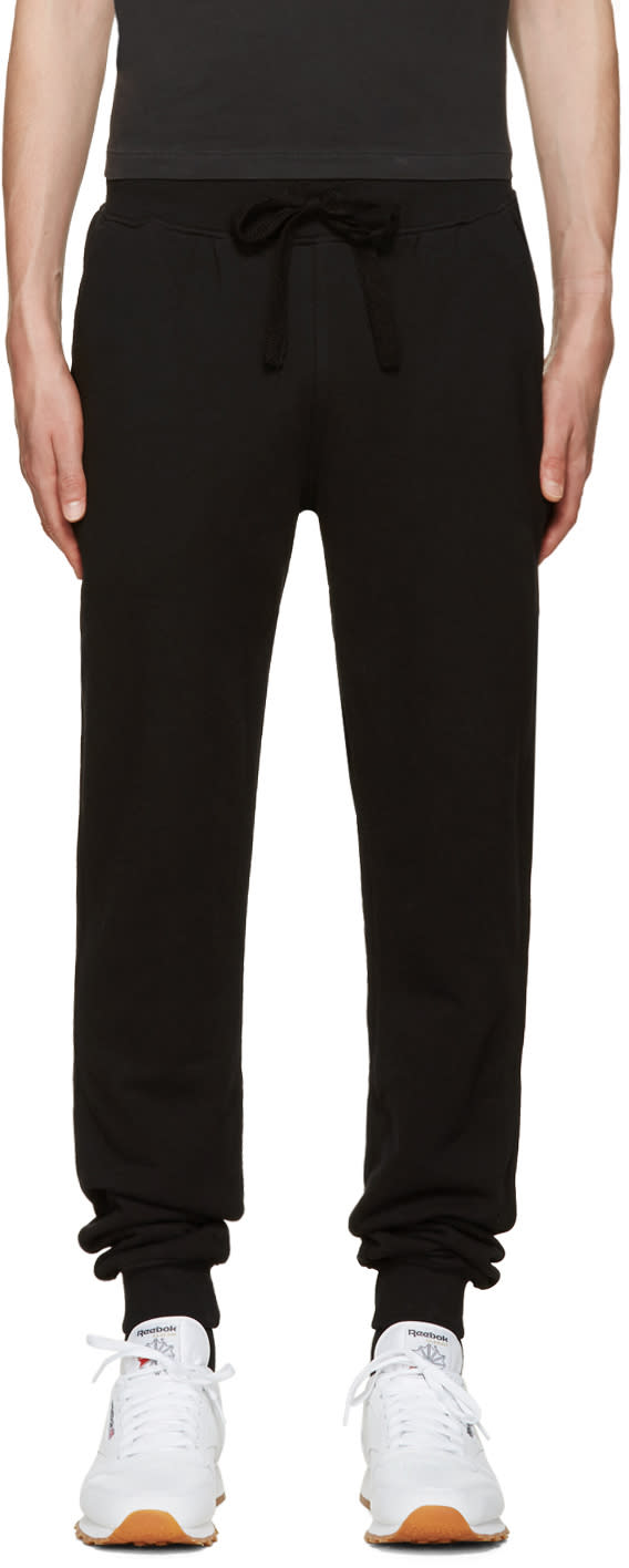 Naked and Famous Denim Black Slim Jogger Lounge Pants