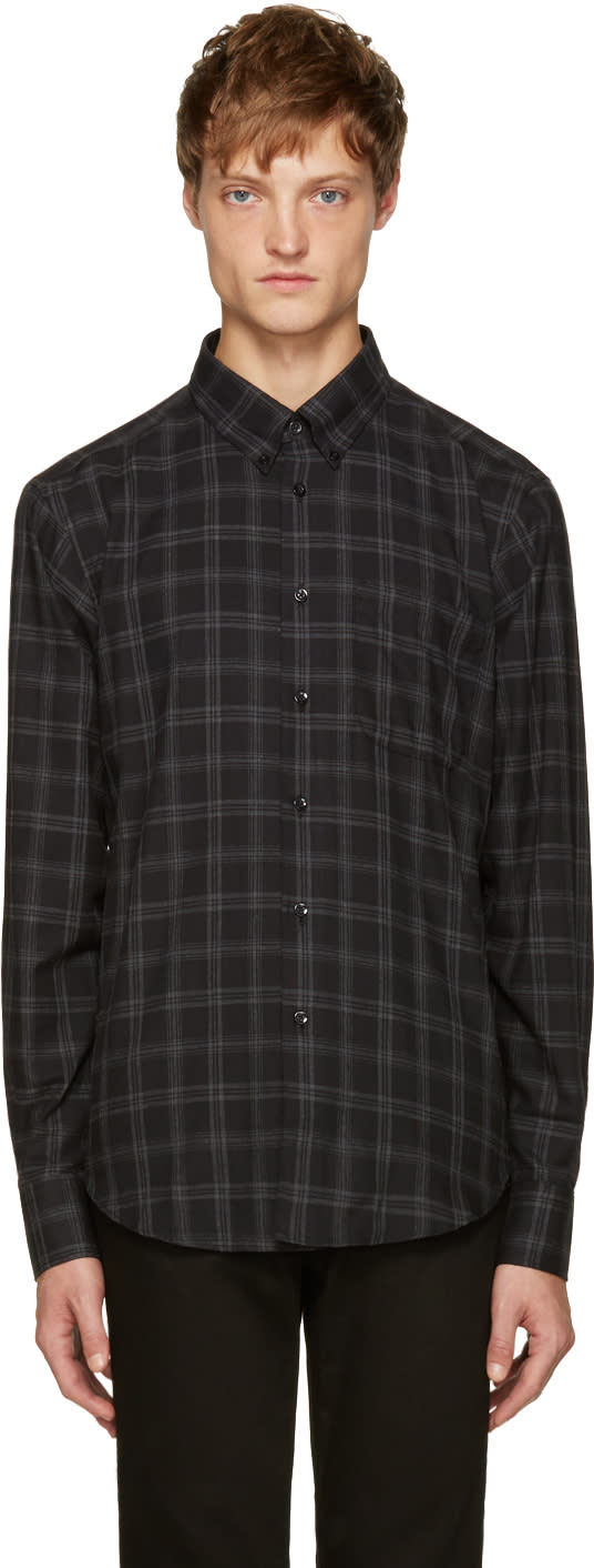 Naked and Famous Denim Black Plaid Flannel Shirt