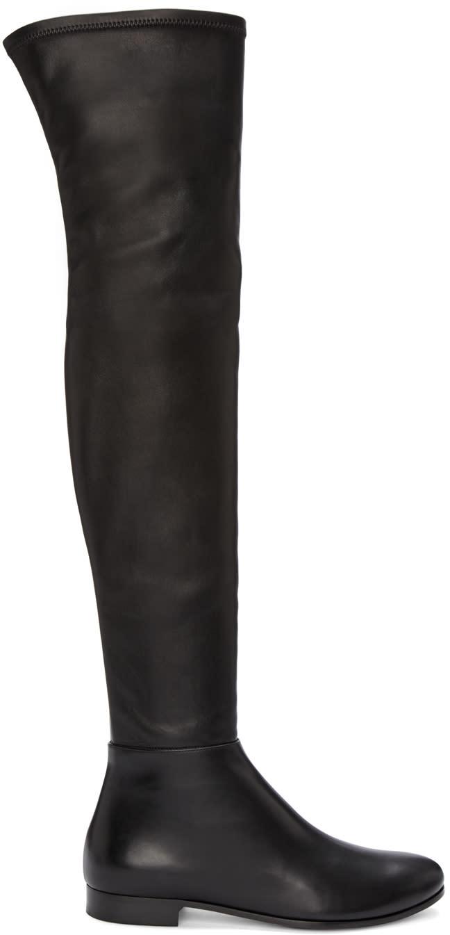 Jimmy Choo Black Myren Tall Boots