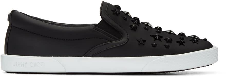 Jimmy Choo Black Stars Demi Slip-on Sneakers