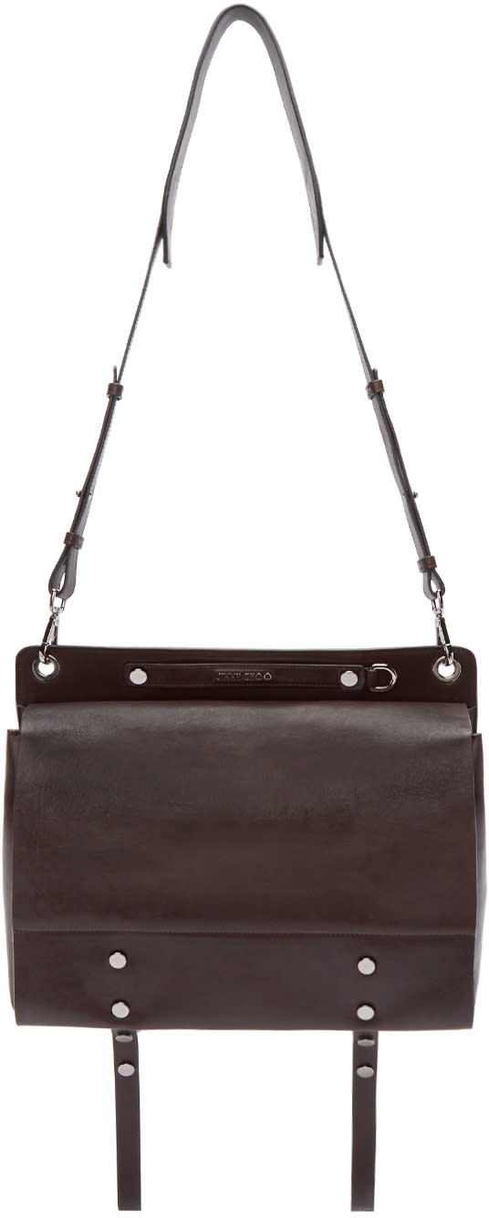 Jimmy Choo Brown Leather Messenger Bag