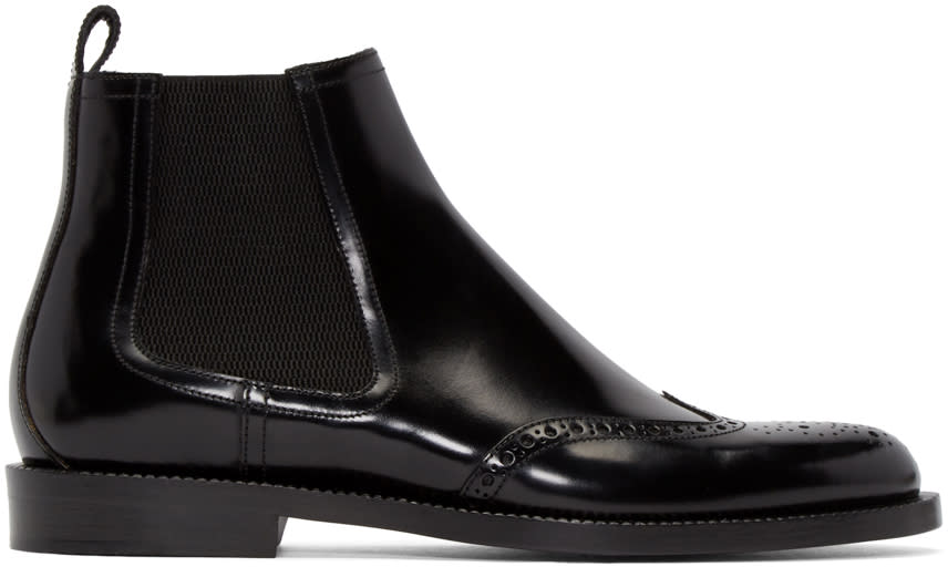 Jimmy Choo Black Leather Angus Boots
