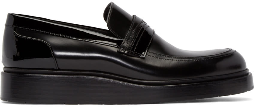 Jimmy Choo Black Leather Mitch Loafers