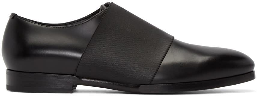 Jimmy Choo Black Elastic Peter Loafers