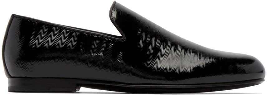 Jimmy Choo Black Wave Sloane Loafers
