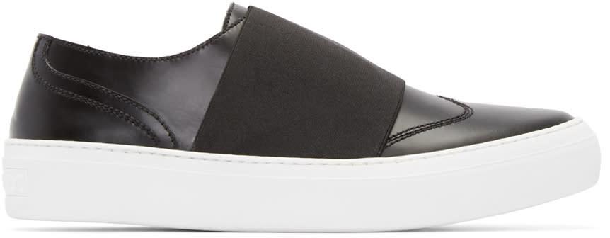 Jimmy Choo Black Elastic Adam Sneakers