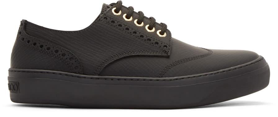 Jimmy Choo Black Reggy Sneakers