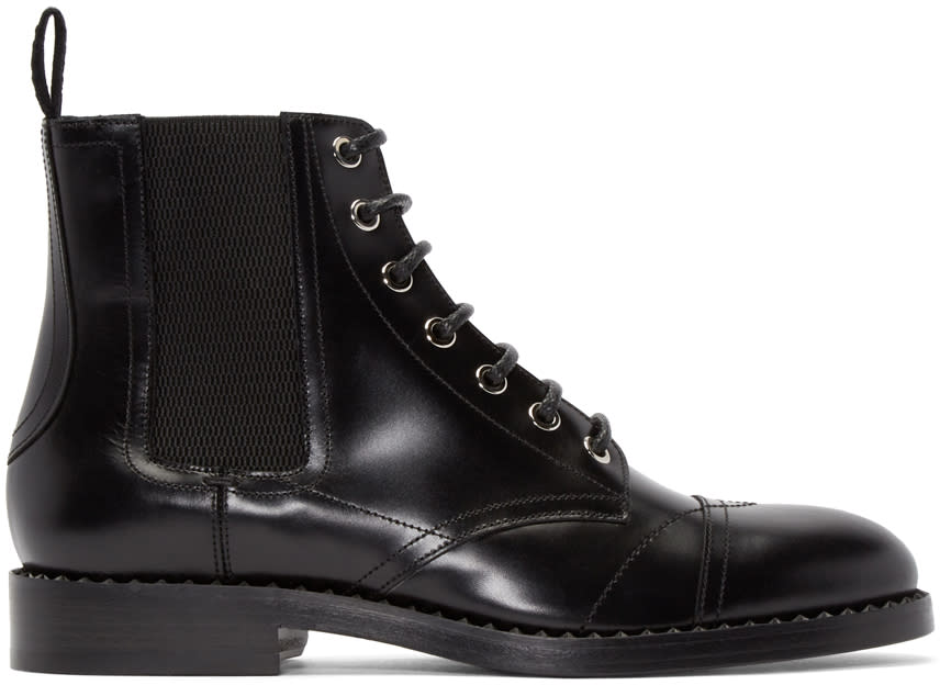Jimmy Choo Black Leather Jules Boots