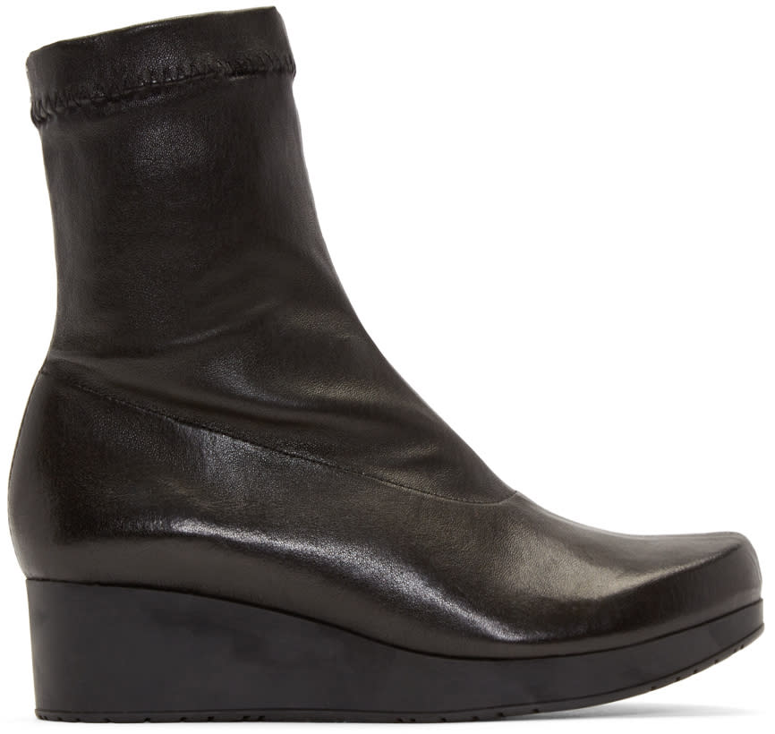 Robert Clergerie Black Nerdall Sock Boots