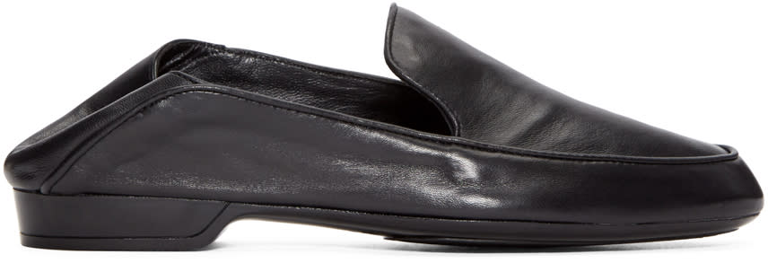 Robert Clergerie Black Leather Fani Loafers