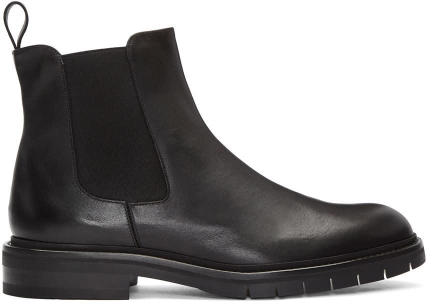 Robert Clergerie Black Brit Chelsea Boots